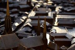 Detalhe do modelo da cidade de Olomouc fotografia de stock royalty free