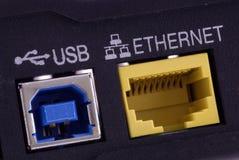 Detalhe do modem do DSL Foto de Stock Royalty Free