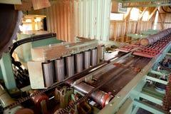 Detalhe do moinho da madeira serrada Fotos de Stock Royalty Free