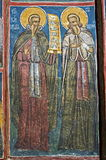 Detalhe do monastério de Moldovita, Romênia fotografia de stock royalty free
