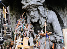 Detalhe do monte das cruzes Imagem de Stock