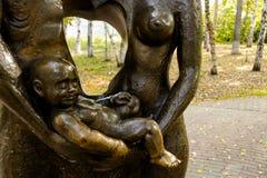 Detalhe do monumento à família Fotos de Stock Royalty Free