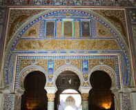 Detalhe do mosaico do pátio de las Doncellas foto de stock