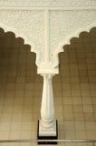Detalhe do motivo e do teste padrão em Sultan Ismail Airport Mosque - o aeroporto de Senai Imagens de Stock