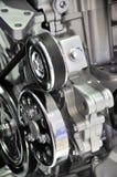 Detalhe do motor de automóveis Foto de Stock Royalty Free