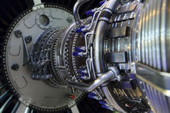 Detalhe do motor de jato Fotografia de Stock Royalty Free