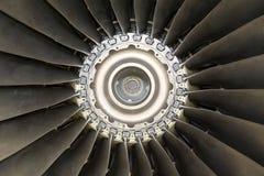 Detalhe do motor de jato dos aviões Imagem de Stock Royalty Free