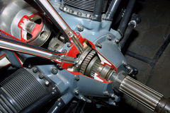 Detalhe do motor de pistão Imagens de Stock Royalty Free