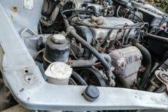 Detalhe do motor velho imagens de stock royalty free