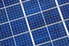 Detalhe do painel solar Fotografia de Stock Royalty Free