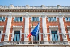 Detalhe do Palazzo Montecitorio, Roma, Itália. Imagem de Stock