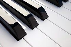 Detalhe do piano do teclado Foto de Stock