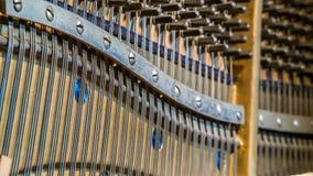 Detalhe do piano ereto Imagem de Stock Royalty Free