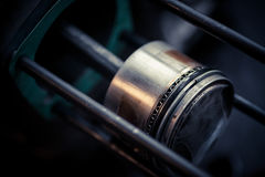 Detalhe do pistão da motocicleta Foto de Stock Royalty Free