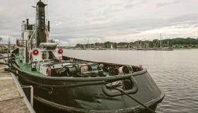 Detalhe do porto em Rostock, Alemanha imagem de stock royalty free