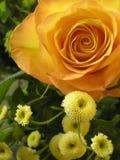 Detalhe do ramalhete do casamento dourado Imagens de Stock Royalty Free