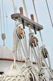 Detalhe do sailboat do vintage imagens de stock