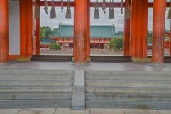 Detalhe do santuário de Heian em Kyoto Japão imagem de stock