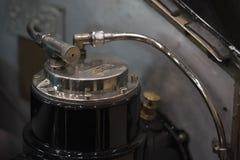 Detalhe do tanque de gasolina do carro do vintage Imagem de Stock