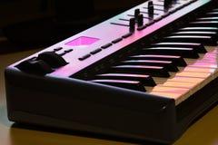 Detalhe 1 do teclado de Midi Foto de Stock Royalty Free