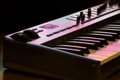 Detalhe 2 do teclado de Midi Foto de Stock Royalty Free