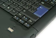 Detalhe do teclado do portátil Imagens de Stock