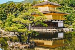 Detalhe do templo de Kinkakuji o pavilhão dourado em Kyoto, Japão Imagem de Stock Royalty Free
