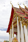 Detalhe do templo de Wat Chalong Foto de Stock Royalty Free