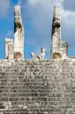 Detalhe do templo dos guerreiros Imagens de Stock Royalty Free