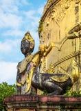 Detalhe do templo em Yangon, Myanmar Fotos de Stock Royalty Free