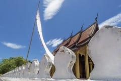 Detalhe do templo Wat Mai Suwannaphumaham de Luang Prabang, Laos imagem de stock