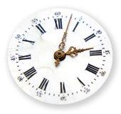 Detalhe do tempo no branco Foto de Stock