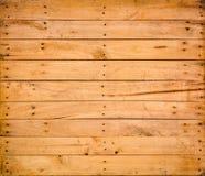 Detalhe do teste padrão da natureza de texto velho decorativo da parede da caixa da madeira de pinho Imagens de Stock Royalty Free
