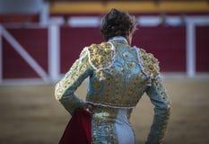 Detalhe do traje de luces ou de vestido do toureiro Imagens de Stock Royalty Free