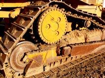 Detalhe do trator da escavadora Imagem de Stock Royalty Free