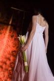 Detalhe do vestido do dia do casamento Foto de Stock Royalty Free