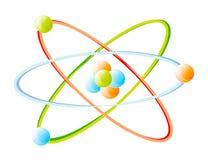Detalhe do vetor de átomo Imagens de Stock