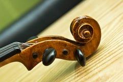 Detalhe do violino Fotografia de Stock