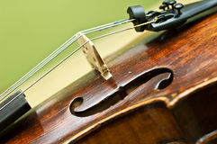 Detalhe do violino Foto de Stock Royalty Free