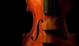 Detalhe do violino do vintage Foto de Stock Royalty Free