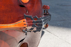 Detalhe do violoncelo Fotografia de Stock Royalty Free