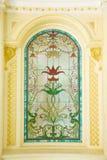 Detalhe do vitral - imagem conservada em estoque fotografia de stock