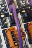Detalhe dos conectores fotos de stock