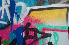 Detalhe dos grafittis Imagem de Stock Royalty Free