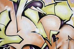 Detalhe dos grafittis Fotos de Stock Royalty Free