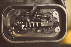 Detalhe dos parafusos de metal Imagem de Stock