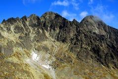 Detalhe dos picos de montanha Imagem de Stock Royalty Free