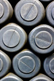 Detalhe dos tambores imagem de stock