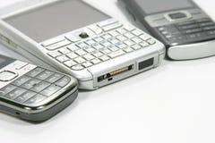 Detalhe dos telefones móveis Foto de Stock