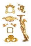 Detalhe dourado Fotografia de Stock Royalty Free